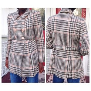 ModCloth Vintage inspired Houndstooth Pea Coat
